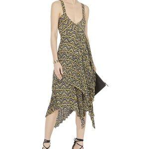 A.L.C. Kendall Silk Asymmetrical Midi Dress